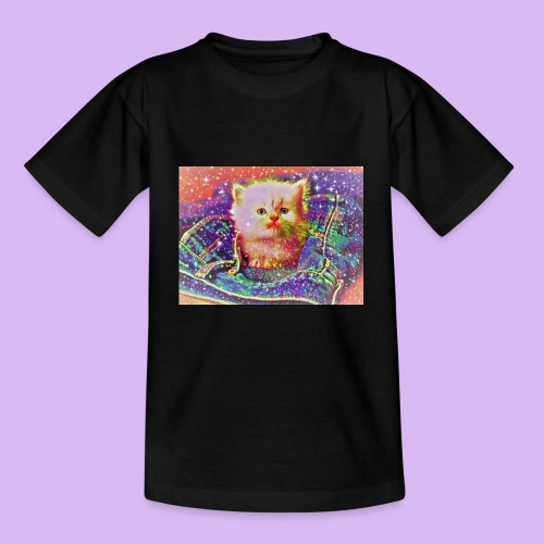 Gattino scintillante nella tasca dei jeans - Maglietta per bambini