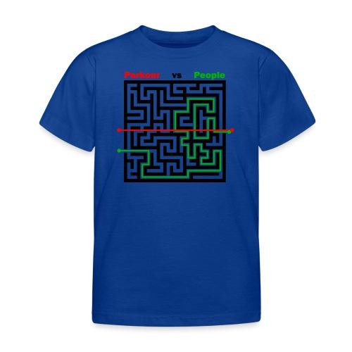 Parkour Maze parkour vs people - Børne-T-shirt