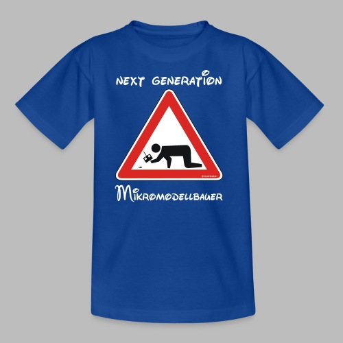 Warnschild Mikromodellbauer Next Generation - Kinder T-Shirt