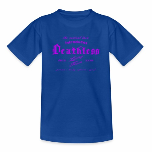 deathless living team violet - Kinder T-Shirt
