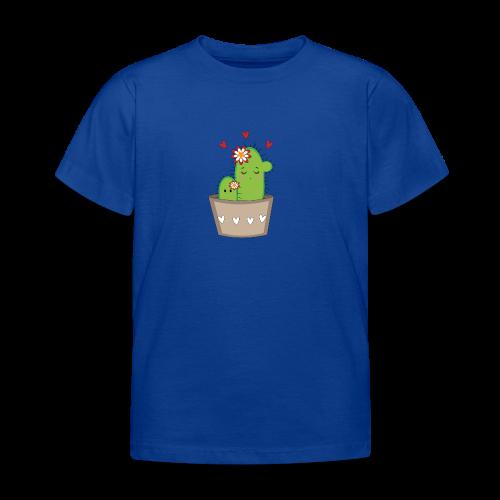 Kaktus Mama mit Kaktus Baby - Kinder T-Shirt
