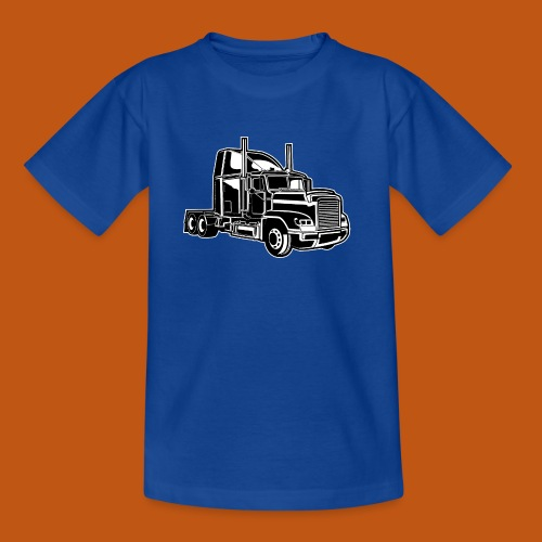 Truck / Lkw 02_schwarz weiß - Kinder T-Shirt
