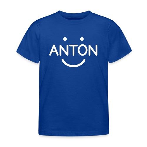 ANTON Smile-Logo weiß auf versch. Farben - Kinder T-Shirt
