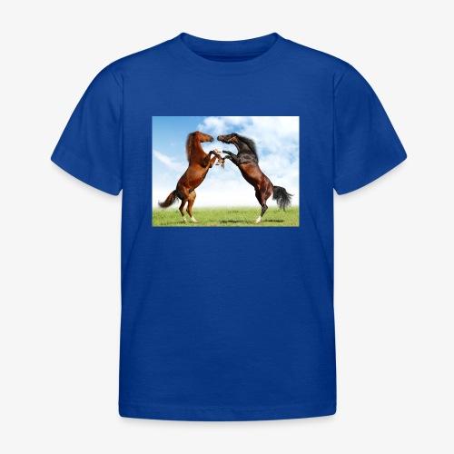kaksi hevosta - Lasten t-paita