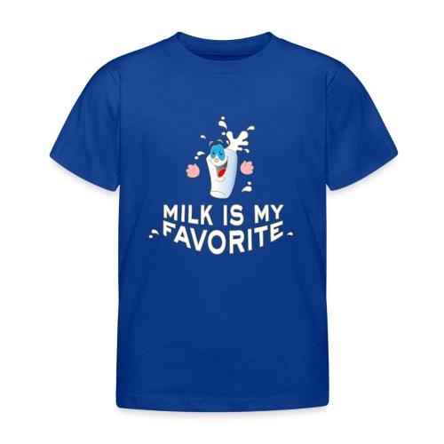 Milk is my favorite Milch Kaffee Sahne Kühe Bauern - Kids' T-Shirt