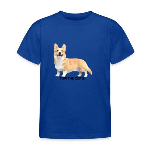 Topi the Corgi - Black text - Kids' T-Shirt