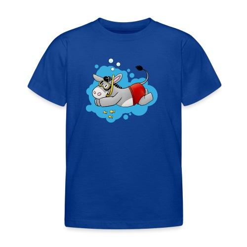 Esel - Kuschelesel geht schwimmen - Kinder T-Shirt