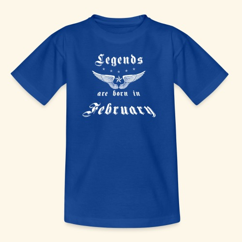 Legends are born in February - Kinder T-Shirt