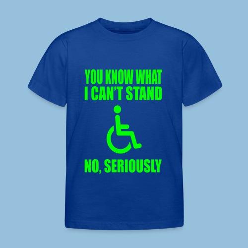 Can tstand1 - Kinderen T-shirt