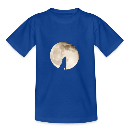 The wolf with the moon - T-shirt Enfant