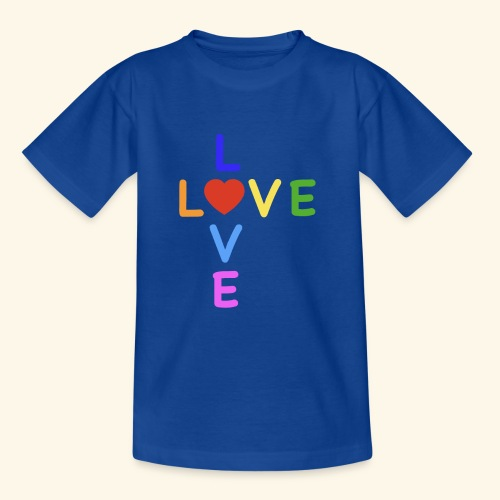 Rainbow Love. Regenbogen Liebe - Kinder T-Shirt
