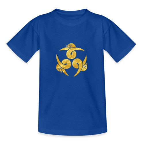 Three Geese Japanese Kamon in gold - Kids' T-Shirt