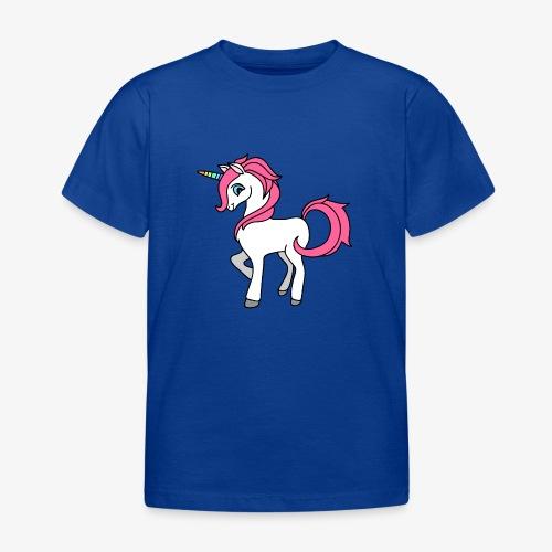 Süsses Einhorn mit rosa Mähne und Regenbogenhorn - Kinder T-Shirt