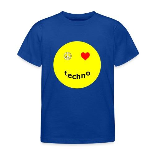 camiseta paz amor techno - Camiseta niño