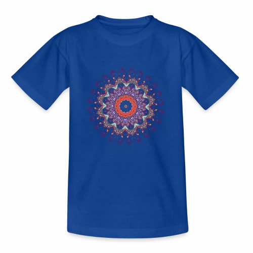 Orange mandala - Børne-T-shirt