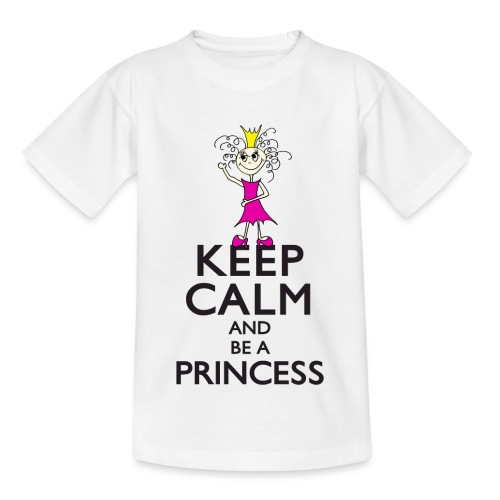 Keep calm an be a princess - Kinder T-Shirt