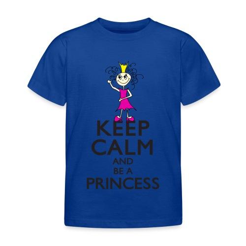 Keep calm an be a princess - Kinder T-Shirt