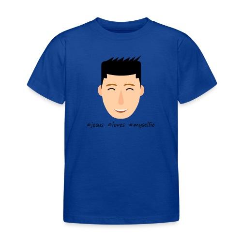 jesus loves myselfie - Kinder T-Shirt