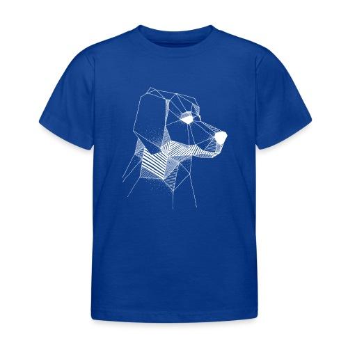 Golden Retriever Geometrisch Wit - Kinderen T-shirt
