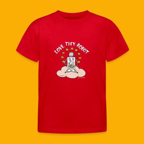 Dat Robot: Love Thy Robot Buddha Dark - Kinderen T-shirt