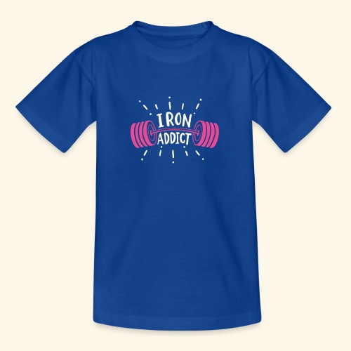Iron Addict I VSK Funny Gym Shirt - Kinder T-Shirt