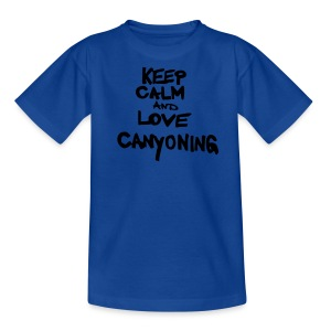 keep calm and love canyoning - Kinder T-Shirt