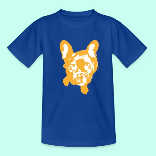 Bulldogge Beige schauend - Kinder T-Shirt
