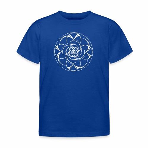 Mandala Nr 2 weiss - Kinder T-Shirt