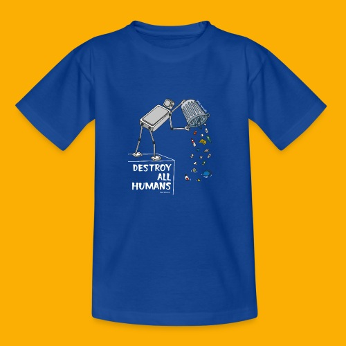 Dat Robot: Destruction By Pollution Dark - Kinderen T-shirt