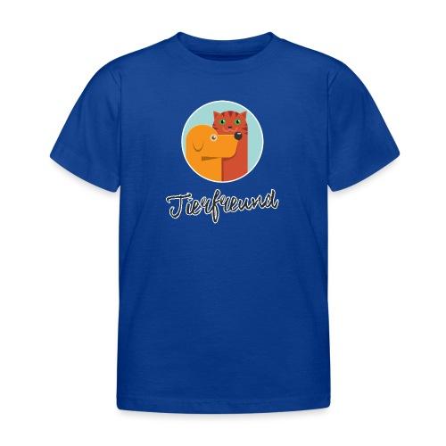 Tierfreund mit Schriftzug - Kinder T-Shirt