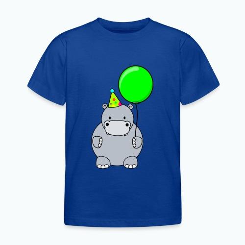 Henri Hippo Party - Appelsin - T-shirt barn