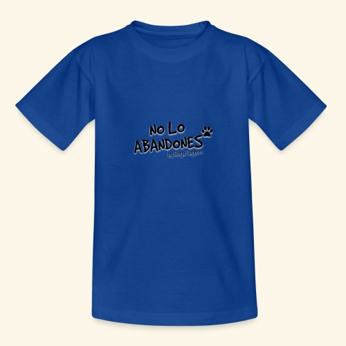 noloabandones negro - Camiseta niño