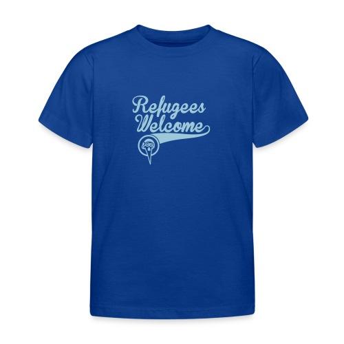 refugees-welcome-storch-h - Kinder T-Shirt