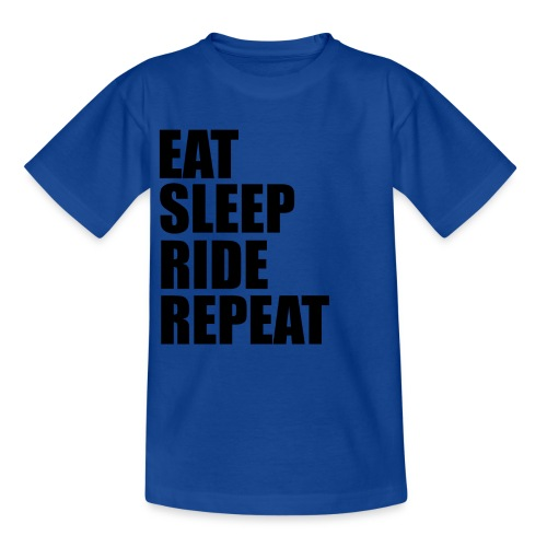 Eat sleep ride repeat - Maglietta per bambini