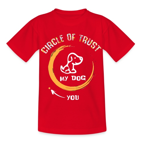 Circle of trust my dog shirt - Kids' T-Shirt