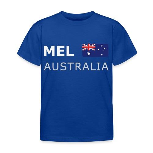 MEL AUSTRALIA white-lettered 400 dpi - Kids' T-Shirt