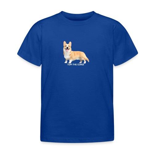 Topi the Corgi - White text - Kids' T-Shirt