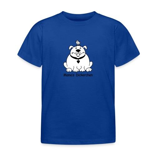 Dicker, süßer Hund s/w - Kinder T-Shirt