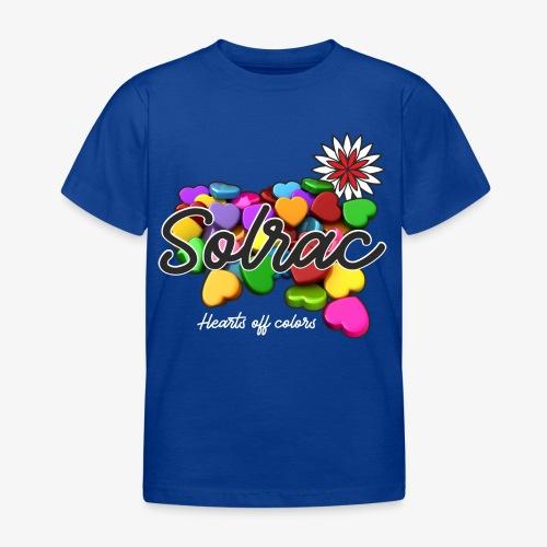 SOLRAC Hearts black - Camiseta niño