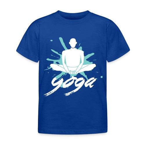 yoga blu yoga yogi namaste pace amore arte hippie - Maglietta per bambini
