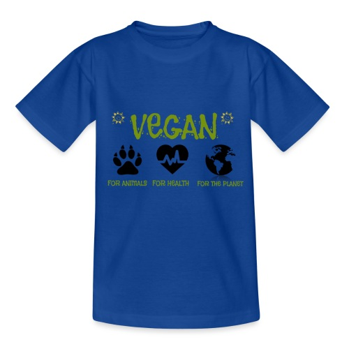 Vegan for animals, health and the environment. - Kids' T-Shirt