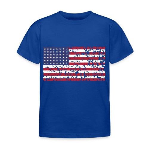 AVM WWII Trashed 48 star flag in color D'Day - Kinderen T-shirt