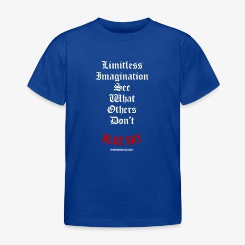 Limitless Imagination Wit - Kinderen T-shirt