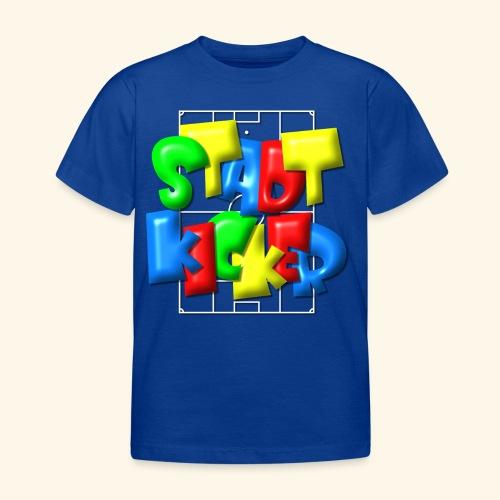 Stadtkicker im Fußballfeld - Balloon-Style - Kinder T-Shirt