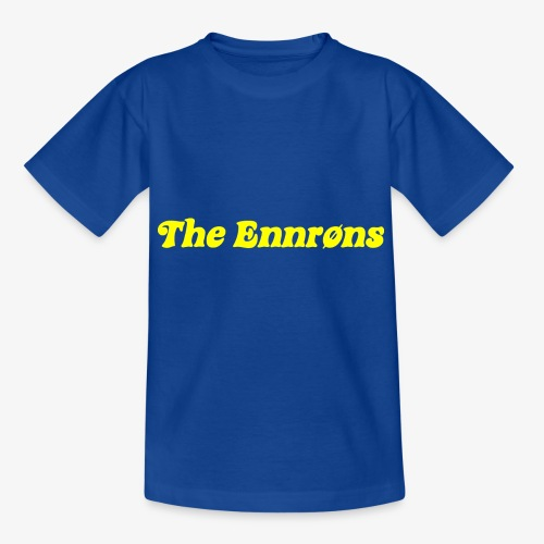 TheEnnrons yellow text - Kinderen T-shirt