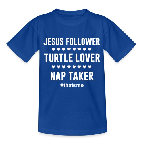 Jesus follower turtle lover nap taker - Kids' T-Shirt