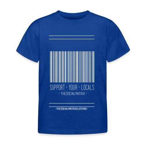 STEUN JE PLAATSELIJKE [WIT] - Kinderen T-shirt