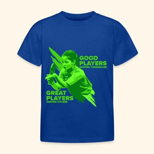 Tischtennis Mädchendesign Konzetration - Kinder T-Shirt