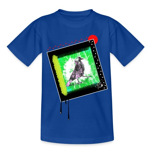 One Cool Bird by BlackenedMoonArts, w. logo - Børne-T-shirt