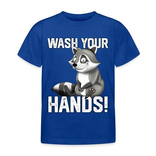 Wash Your Hands   Raccoon Lover   Wash Hand - Maglietta per bambini